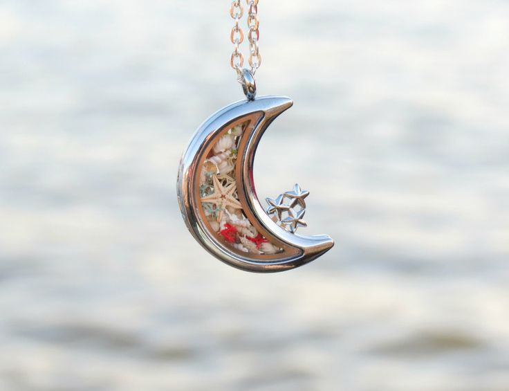 Crescent moon necklace silver Moon necklace birthday