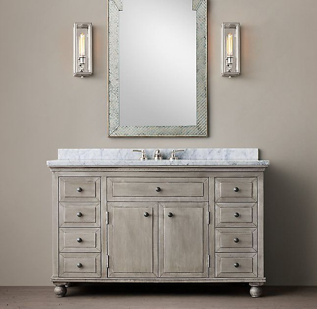 Photo On Annecy Metal Wrapped Single Extra Wide Vanity
