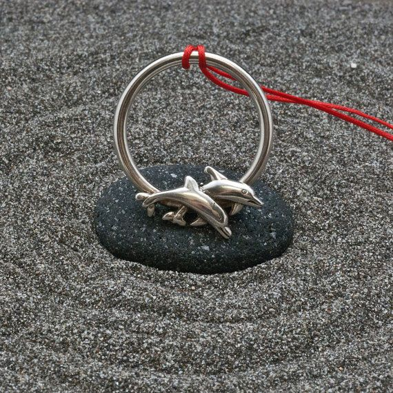 Fish Pendant Long Necklace Sterling Silver Unisex by AllAboutSeas