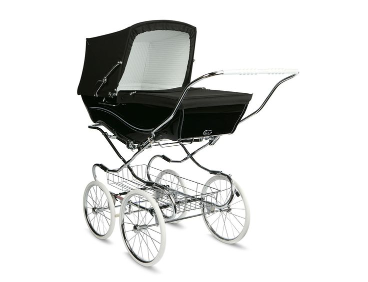 This Black Kensington Classic Pram is perfect for parents who prefer a traditional pram, but value the convenience of a detachable body and folding chassis.  Each Kensington pram is hand made in Yorkshire by Silver Cross craftsmen.