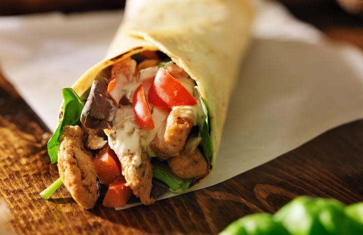 Chicken Tzatziki Tortilla Roll Ups