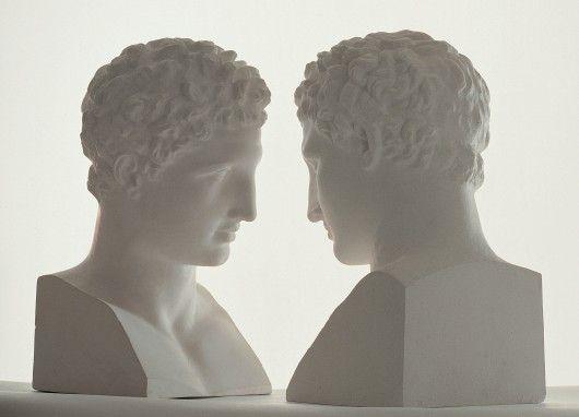 Giulio Paolini // Mimesi (Mimesis)' 1975, Plaster casts, matt white plinths