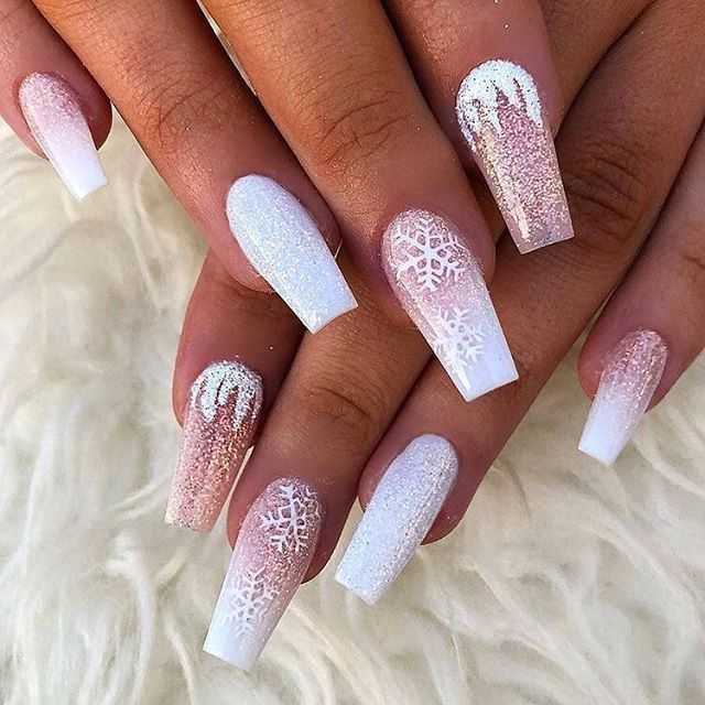52 Winter Nail Colors And Designs Mismatched Nail Colors