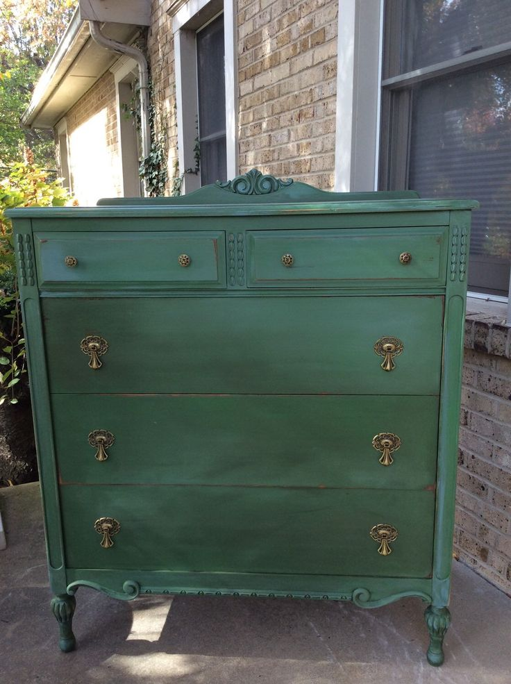 A personal favorite from my Etsy shop https://www.etsy.com/listing/253436944/antique-green-chest-of-drawers