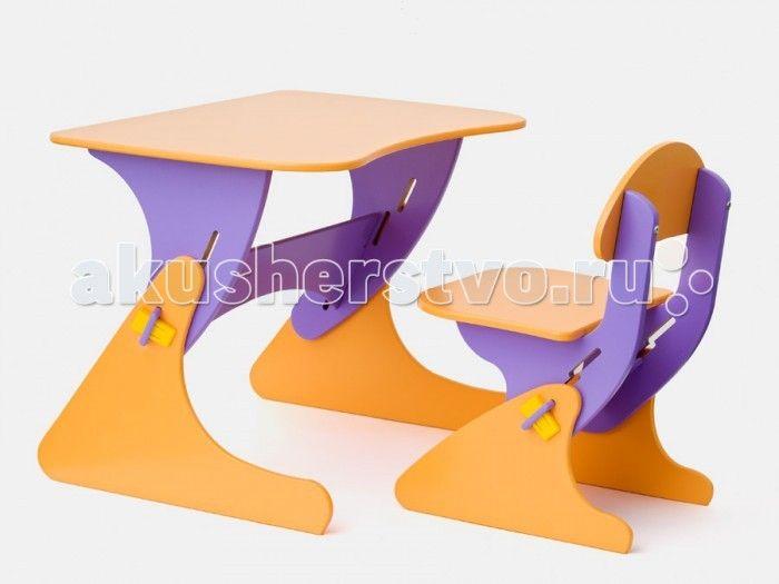 Столики Детям Комплект столика со стульчиком Буслик  Комплект столика со стульчиком Буслик.  Детский регулируемый столик со стульчиком отлично подойдет детям для творческих занятий.   Регулировка под рост ребенка позволит использовать комплект в течение нескольких лет.   Подходит детям в возрасте от 1,5-до 8 лет.   Экологические материалы: МДФ, краска на водной основе.  Размеры стол:  столешница - 67 х 50 см. Высота регулируется от 40 до 58 см. 4 положения  Размеры стул:   сиденье - 35 х 35…