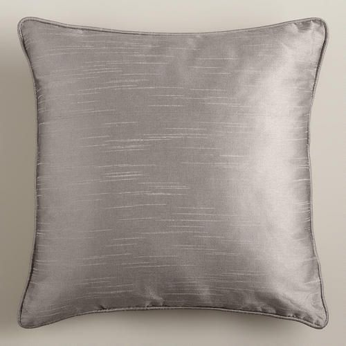 Dupioni Throw Pillow with Piping | World Market $15