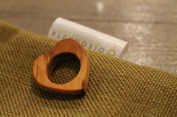 Anelli in legno d'Ulivo