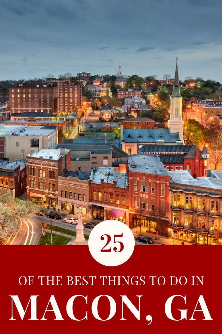 Here are 25 amazing things to do in Macon, GA from beautiful parks to awesome museums to really cool historical buildings, and more!
