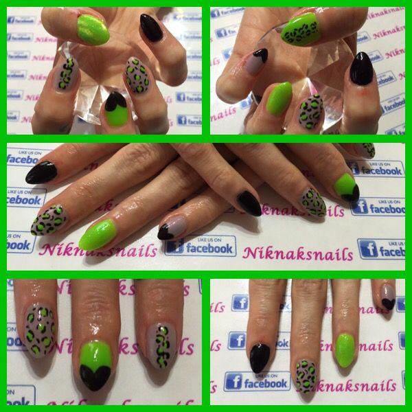 #Acrylink #neonnails #gelpolish #leopardprintnails