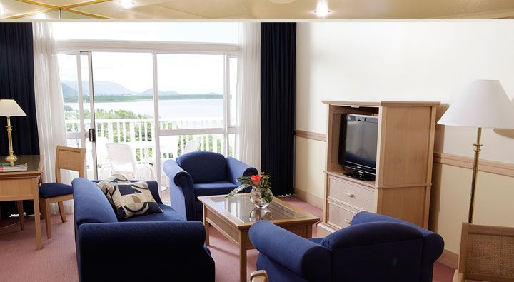 An Executive Ocean View Suite at Rydges Tradewinds Cairns.