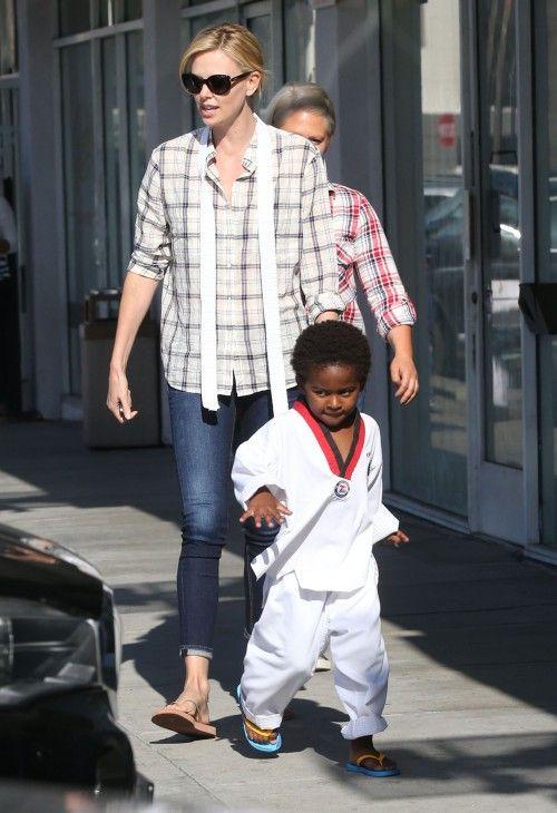 Charlize Theron & Her Karate Kid