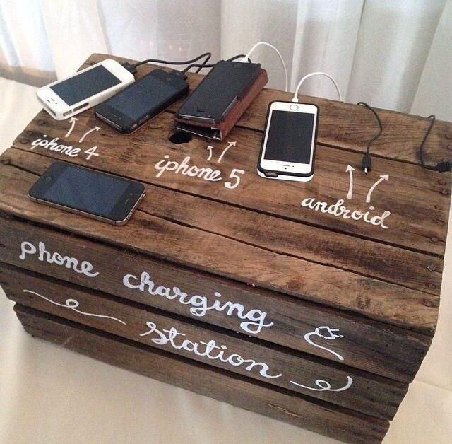 Phone Charging Station Wedding Pinterest Phone