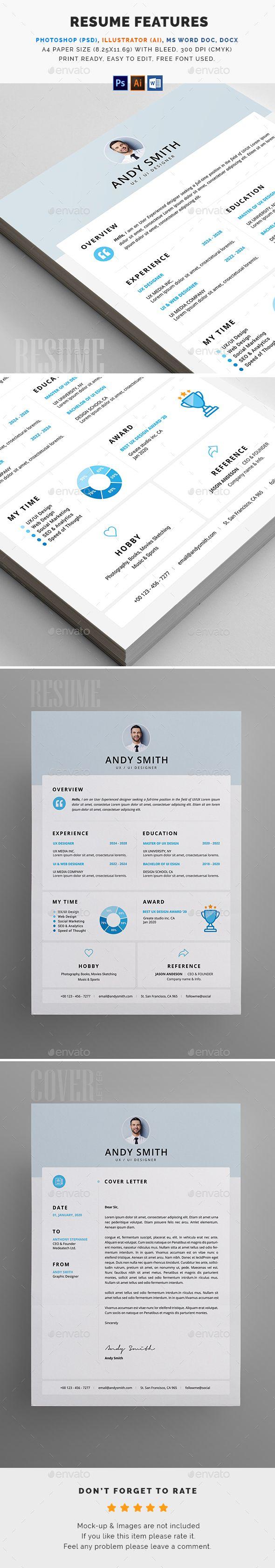 resume stationary template word cover letter cv