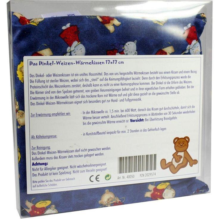 DINKEL WEIZEN Wärmekissen 17x17 cm m.Kindermotiv:   Packungsinhalt: 1 St PZN: 02029574 Hersteller: Dr. Junghans Medical GmbH Preis: 3,44…