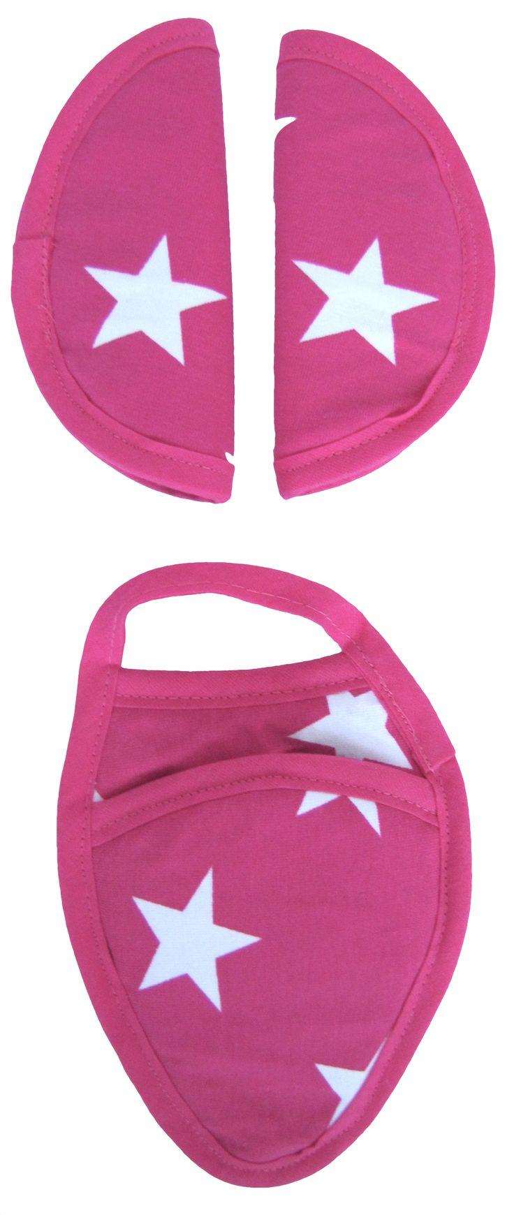 Gordelbeschermers Ster Fuchsia strap cover gurtpolster car seat maxi cosi
