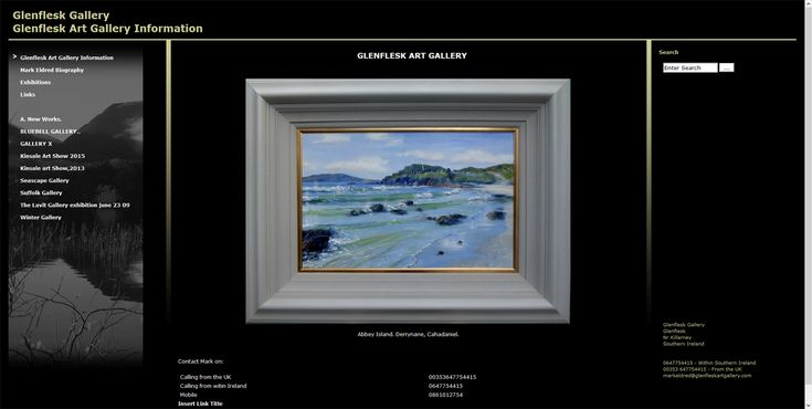 """Some lovely feedback from long standing client: """"I have not come across any other gallery website that is any better than the one you did for me"""""""