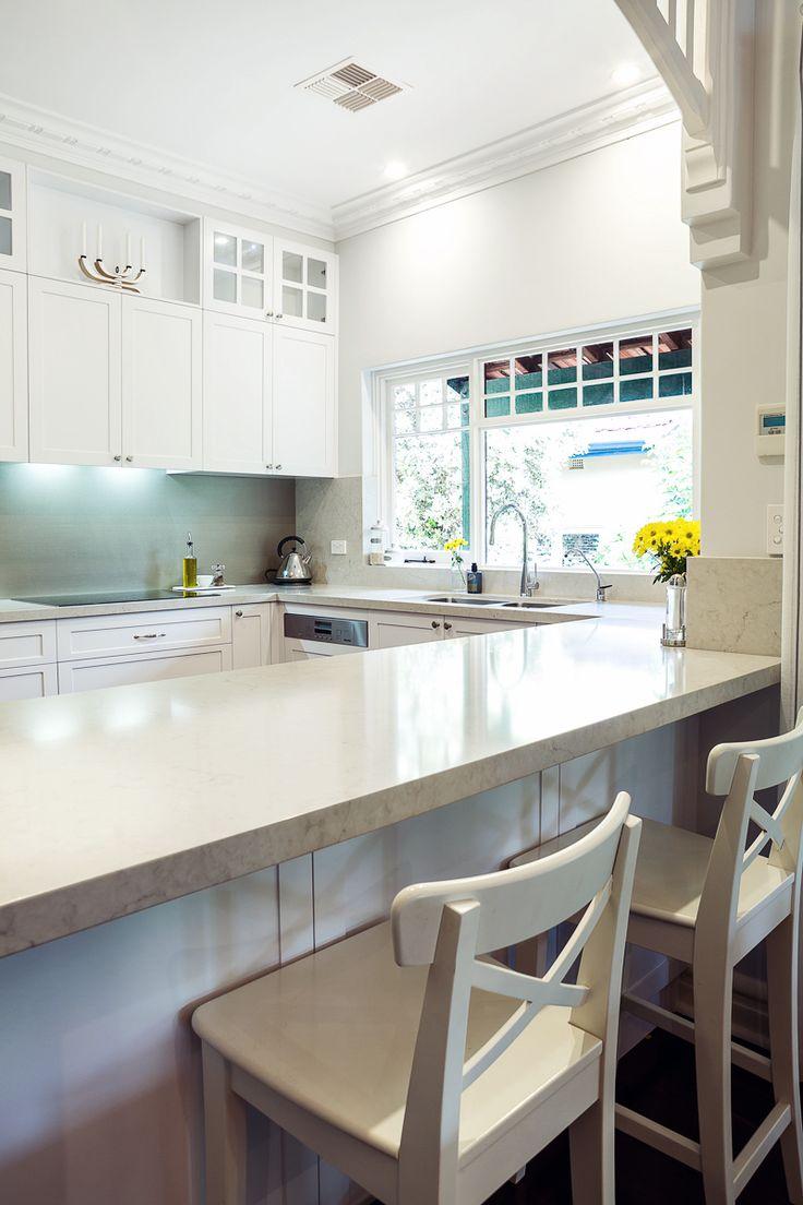 Caesarstone designer kitchens - 5000 London Grey By Caesarstone