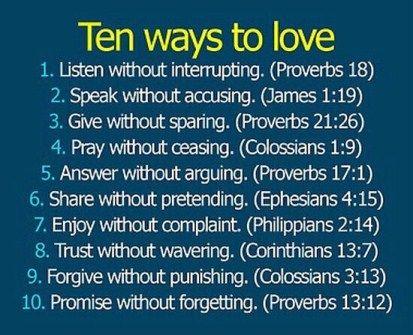 Ten Ways to Love...