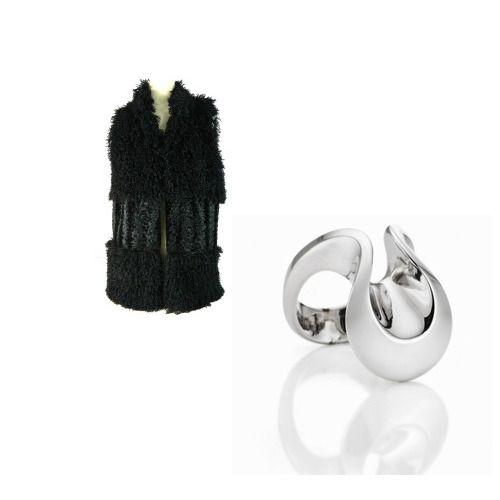 Gilet: http://www.piumi.it/calzature-donna.php Anello onde: http://www.moninigioiellishop.it/buy/anello-ad-onde-in-argento_72.html