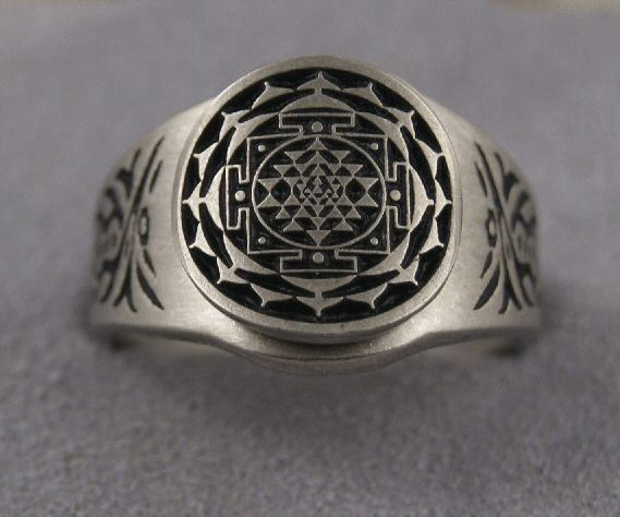 Sri Yantra Pewter Ring