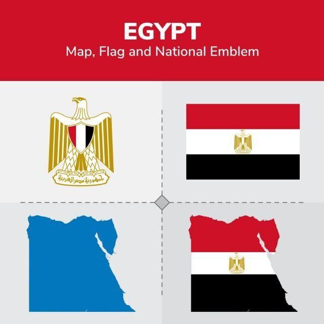 خريطة مصر و العلم و الشعار الوطني القارات البلدان خريطة Png والمتجهات للتحميل مجانا Egypt Map Map Egypt