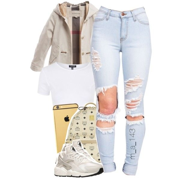 A fashion look from June 2015 featuring Topshop tops, NIKE athletic shoes and MCM backpacks. Browse and shop related looks.