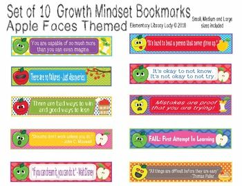 This Apples Growth Mindset Bookmark set includes 10 cute bookmarks with growth mindset phrases in small, medium and large sizes in a non-editable PDF. Editable PowerPoint (.ppt) file includes Large and Medium sizes only. Item comes as a digital download with two files ZIPped in one folder - a non-editable PDF of the bookmarks, and an editable PowerPoint file of the large and medium images.