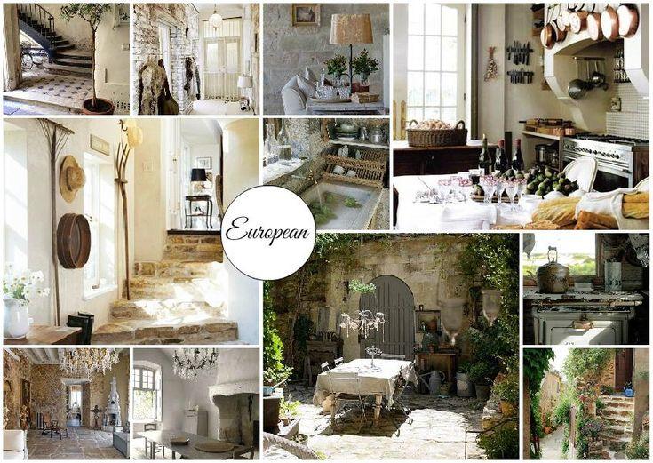 European Style Interior Design Mood Board Read More Here Blog