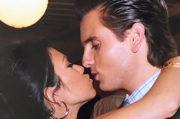 Scott Disick and Kourtney Kardashian Get Cuddly While Shopping