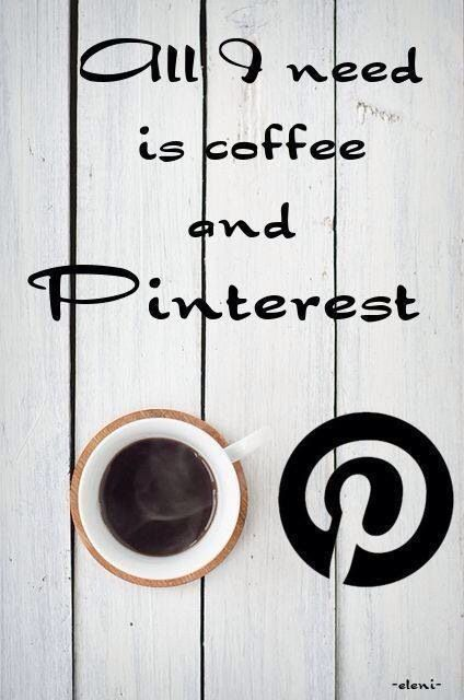 coffee and pinterest