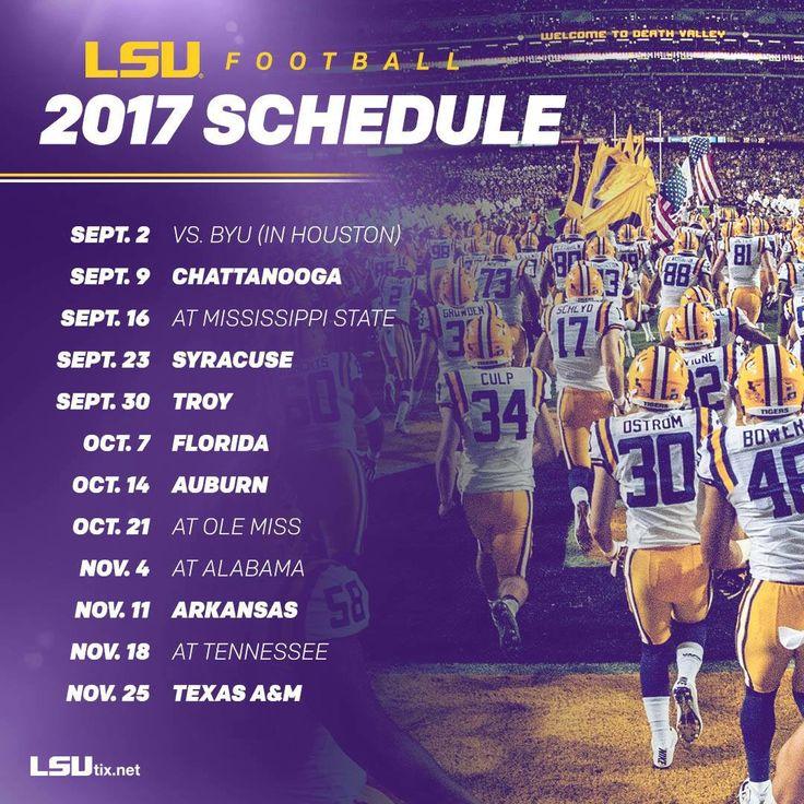 LSU 2017 Schedule