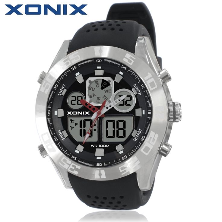 34.29$  Buy here - XONIX Men Sports Watches Waterproof 100m Analog-Digital Watch Running Swimming Diving Wristwatch Relojes Hombre Montre Homme MY   #buychinaproducts