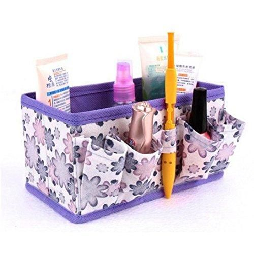 Oferta: 0.8€. Comprar Ofertas de Zarup- Nuevo maquillaje cosméticos caja de almacenamiento bolsa brillante organizador plegable contenedor estacionario (Púrpu barato. ¡Mira las ofertas!