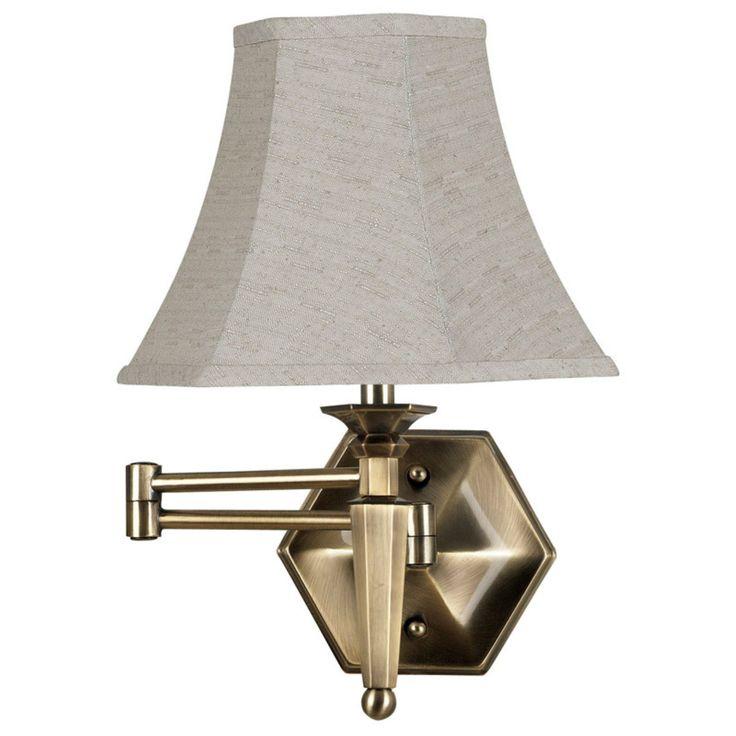 Kenroy Home Mackinley Wall Swing Arm Lamp - 17H in. Georgetown Bronze - 20618GBRZ