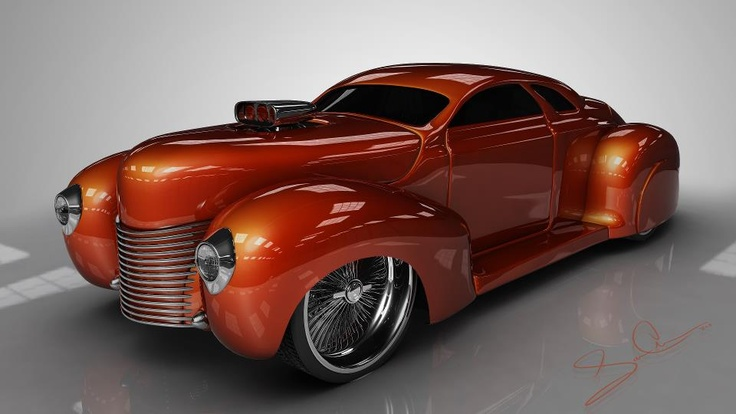 Lincoln Zephyr Custom . I don't think this is a real car looking at wheels to body (even with bags) but still cool