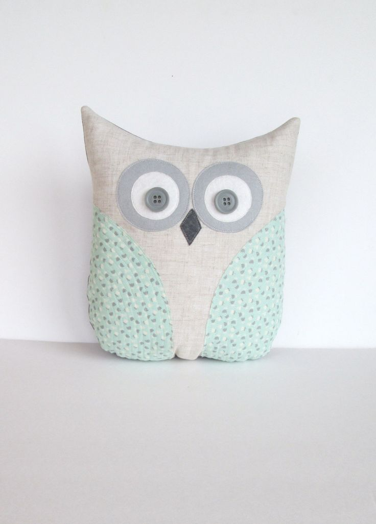 I can make it.        decorative owl pillow, pastel mint green and grey floral pillow, child's room, nursery room pillow decor, READY TO SHIP. $32.00, via Etsy.