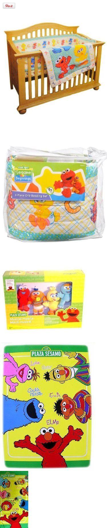 12pcs Deluxe Sesame Street Elmo Baby Crib Bedding Set Musical Mobile, Rug,  Towel + Extras, U2022Beautiful Custom 12 Pieces Unisex Baby Gift Set Includes:  U2022One ...