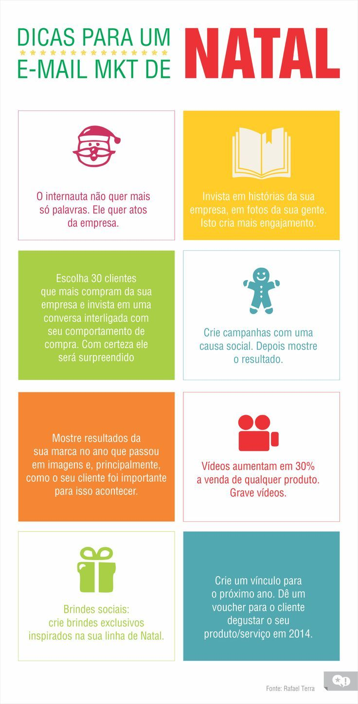 Dicas para um email marketing de natal #infografico #marketing #CRM