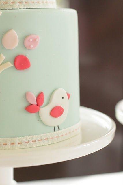 bird cake, baby shower