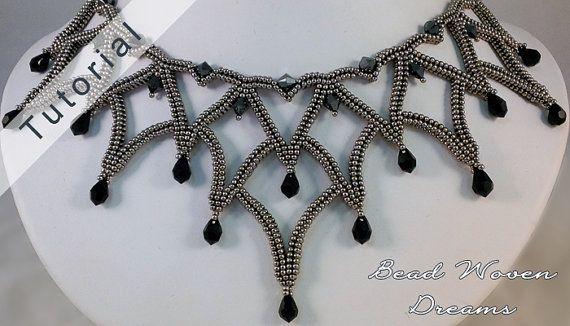 Masquerade Ball Necklace Tutorial by BeadWovenDreams on Etsy