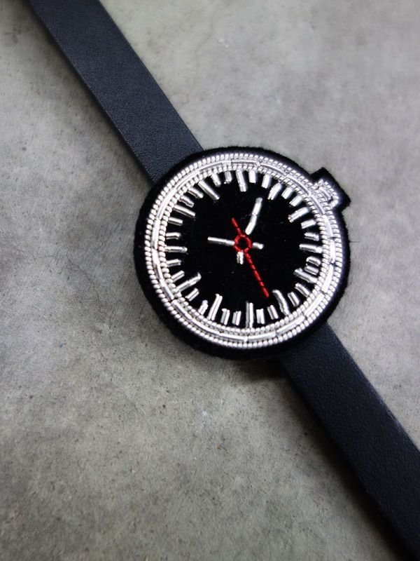 Hand Embroidered Watch Bracelet by Macon & Lesquoy