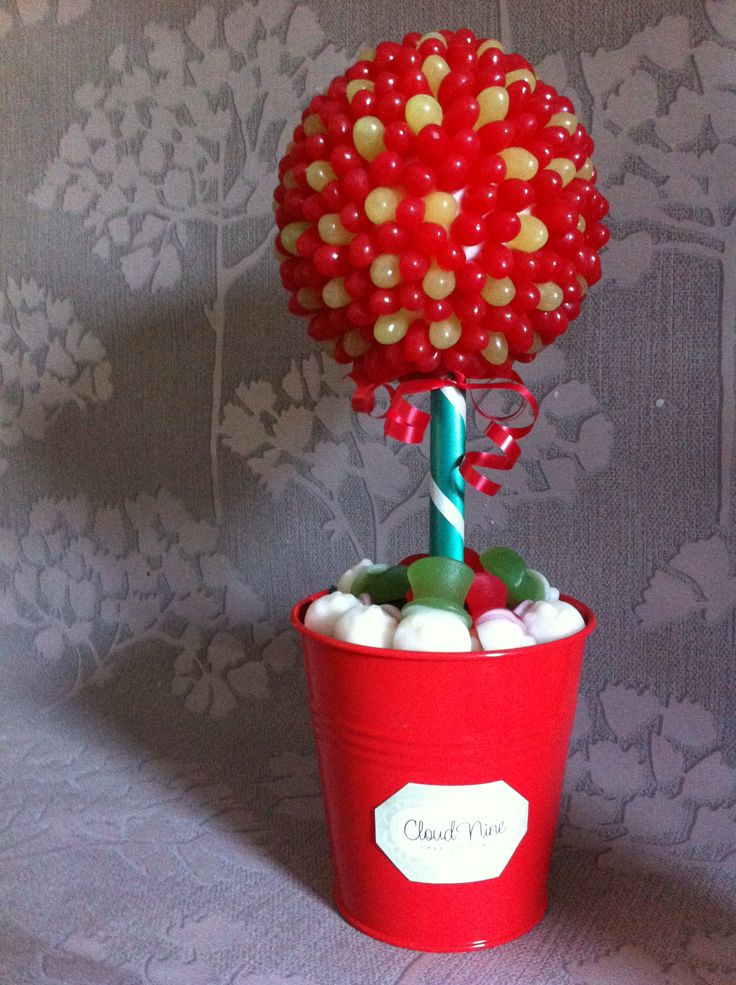 Red and Green Small Jelly Bean Sweet Tree.  Great to nibble at over Christmas
