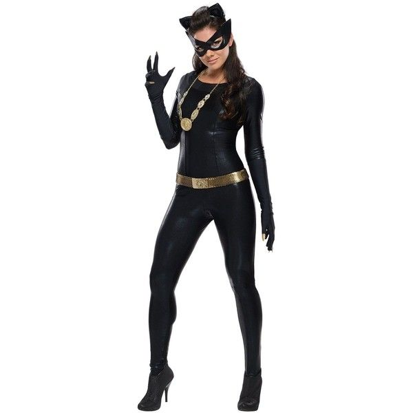 Batman Classic 1966 Series Grand Heritage Catwoman Adult Costume ❤ liked on Polyvore featuring costumes, catwoman halloween costume, adult catwoman costume, adult halloween costumes, grand heritage catwoman costume and catwoman costume