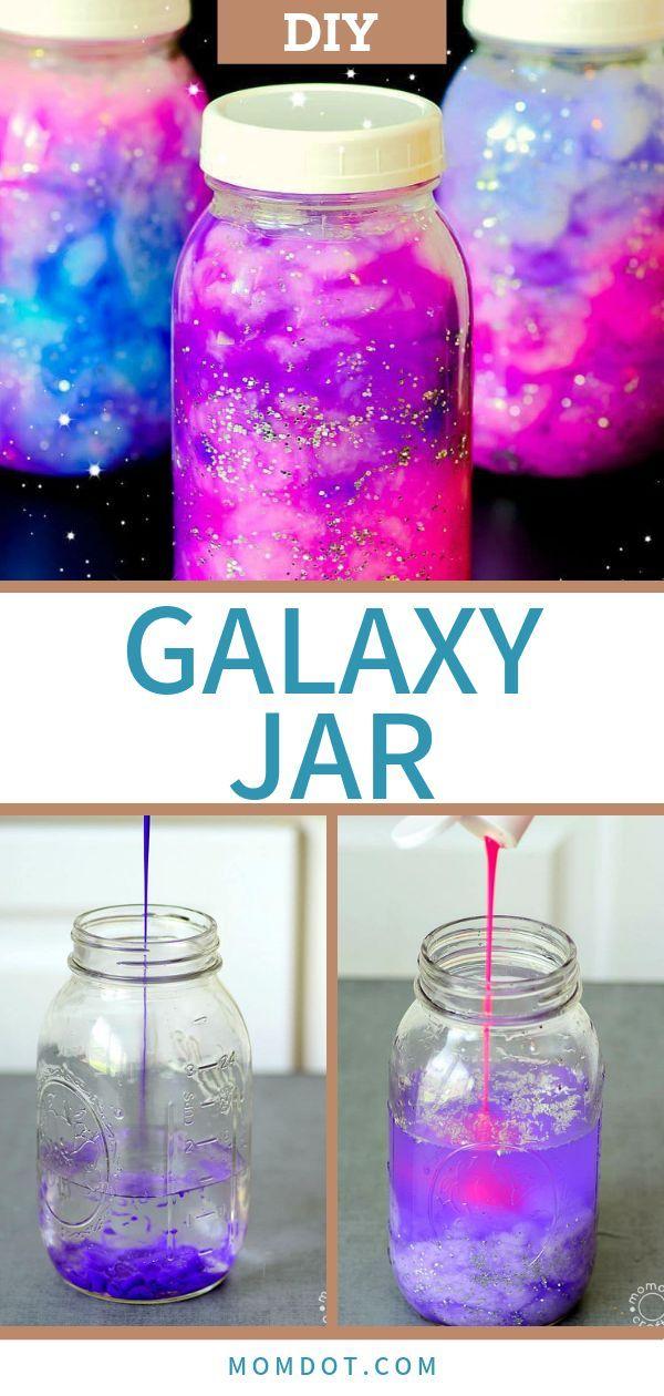 Galaxy Jar DIY Halten Sie das Galaxy Glowing in Ihren Händen