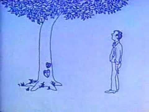 The Actual '73 Giving Tree Movie Spoken By Shel Silverstein: This is one of the most beautiful books in my opinion. In all of its simplicity meant to be read to children, it is more than enough to make you cry. This is so relevant. This is so universal.  My FAVORITE book!!
