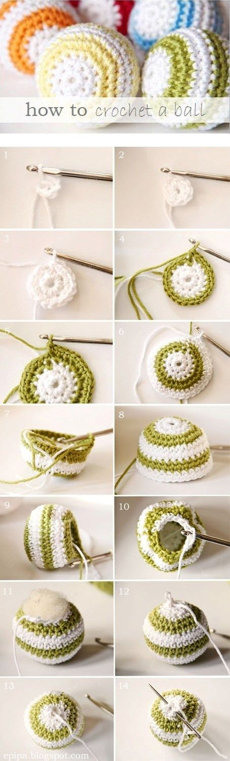 Pretty Crocheted Balls-another easy cat toy