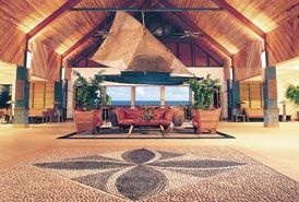 The lobby and reception area at Outrigger on the lagoon, Fiji...
