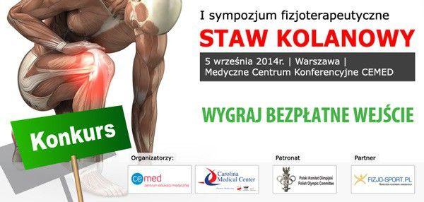 """UWAGA Konkurs! Wygraj bezpłatne wejście na I sympozjum fizjoterapeutyczne """"STAW KOLANOWY""""   5 września 2014 Warszawa"""