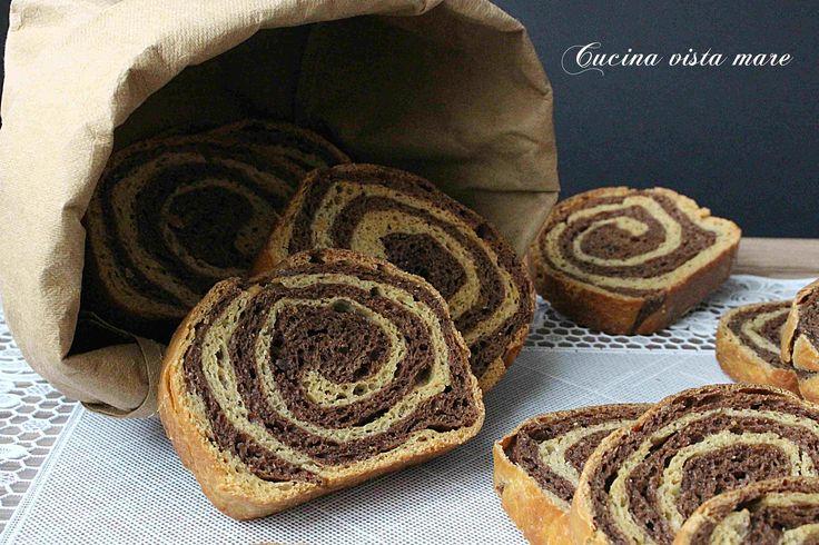 Fette+biscottate+bicolore+al+cacao