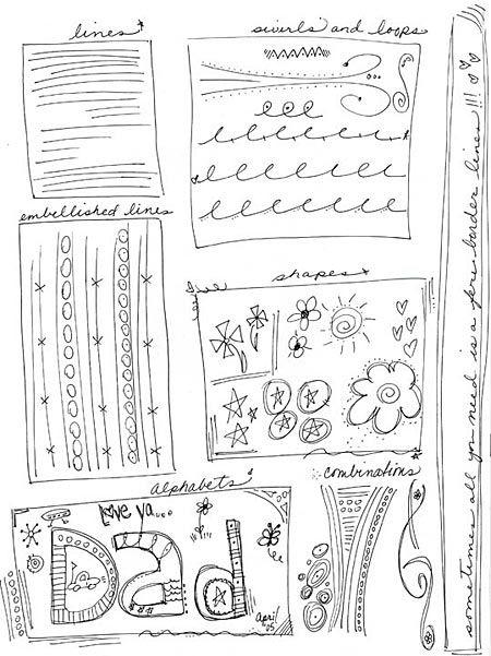 Doodling Tutorial.Art Doodles, Art Journals, Doodles Tutorials, Doodles Samples, Zentangle Doodles, Doodles Drawing